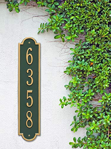 The Richmond Vertical Address Plaque. Personalized Cast Metal Sign. 11 Colors Available! Custom House Numbers by Metal Address Sign (Image #7)