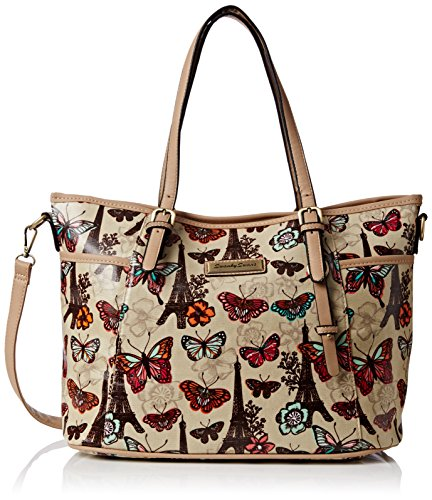 Beige Beige Noel Sac Paris Floral Butterfly Swankyswans femme Beige 70qzRqF