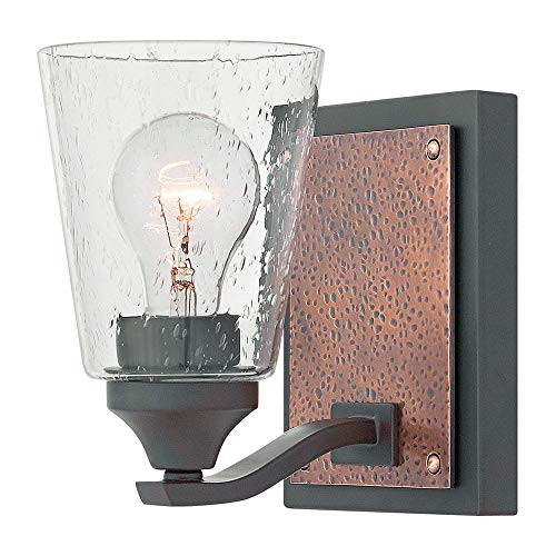 Hinkley 51820KZ Transitional One Light Bath Wall Sconce from Jackson collection in Bronze/Darkfinish,
