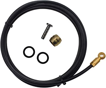 Dymoece 2000mm Hydraulic Disc Brake Hose Kit for Shimano BH90 System,Red//Gold//Si