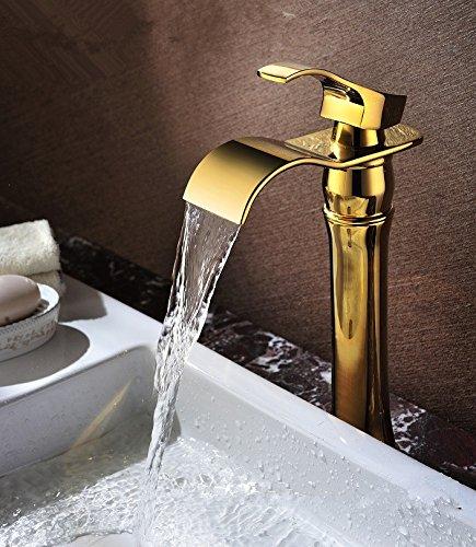 Maifeini  Alle Kupfer Heißen Und Kalten Wasserfall Stage Waschbecken Wasserhahn, Europäische Waschbecken Waschbecken, Leitungswasser, Höhe Waschbecken Wasserhahn