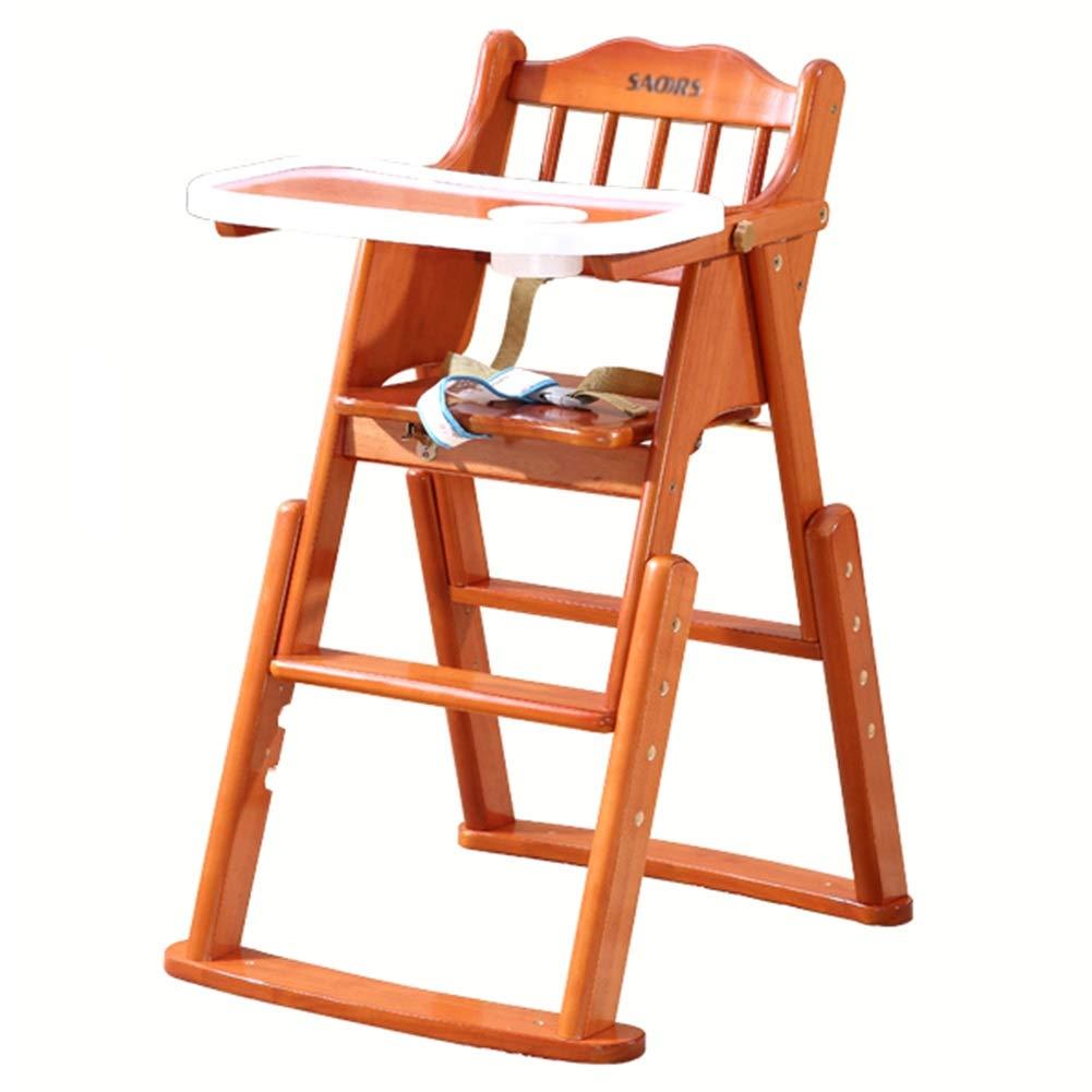 LXLA - 赤ん坊および幼児の食事のための折り畳み式の調節可能な高い椅子(木) (色 : ウォールナット)  ウォールナット B07NVKY6GS