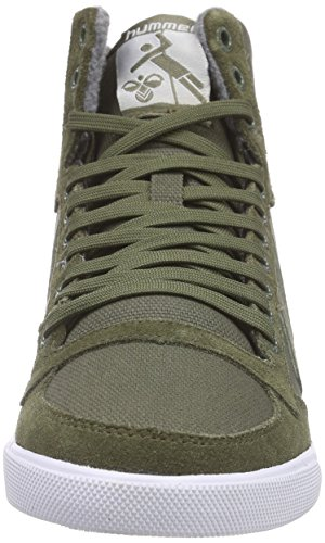 Waxed Grün Hummel Hohe Ivy Erwachsene Green Slimmer Sneakers 6187 Stadil Unisex EE6WPFq