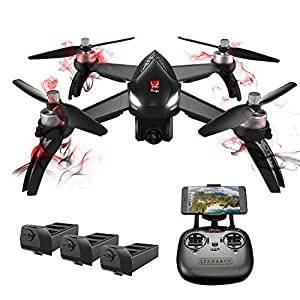 GooDGo Bugs 3 Mini Quadcopter with 5.8G FPV 720P Camera, LCD RX Display, 300m Remote Control Distance, Manual Dual Mode, High/Low Speed Switch, 2.4 GHz 6-Axis Gyro Headless Mode Drone (B5W)
