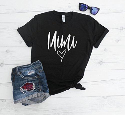 Mimi Basic Tee Shirt, Grandma Shirt, Grandmother Gift Idea, Mimi Top, Grand kids Present, Grandma tee, Cute Mimi Top by Strong Girl Clothing