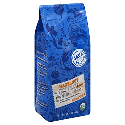 Java Trading Company Organic Ground Coffee, Hazelnut, 10 - Java Sweet Coffee One