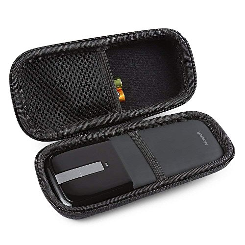 BOVKE Protective Carrying Case for Microsoft Arc Touch Mouse Hard EVA Shockproof Travel Storage Pouch Cover Bag, Black