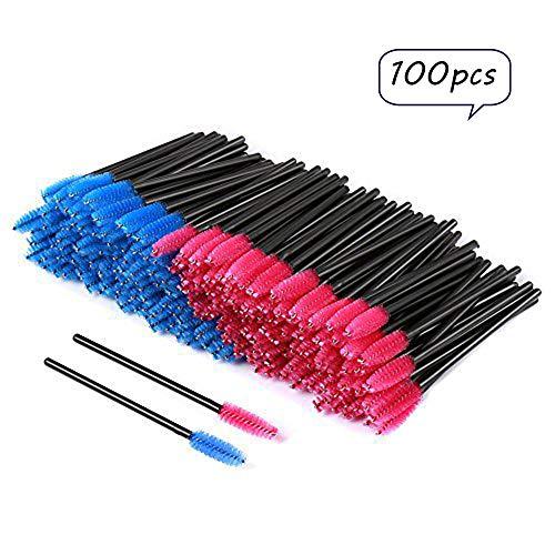 Disposable Eyelash Eye Lash Makeup Brush Mascara Wands Applicator Makeup Kits (100pcs) ()