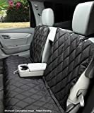 4Knines Dog Seat Cover Without Hammock 60/40 Fold Down Seat and Middle Seat Belt Capable - USA Company