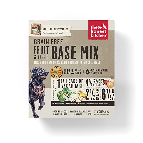 Honest Kitchen Grain Free Fruit & Veggie Base Mix Recipe for Dogs 3 lb Box - Preference