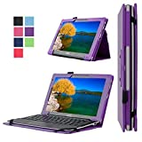 Acer Aspire Switch 10E Case, Pasonomi® Premium PU Leather Folio Case Stand Cover With Smart Cover Auto Wake / Sleep Feature for Acer Aspire Switch 10E 10.1 inch Tablet (Litchi Series Purple)