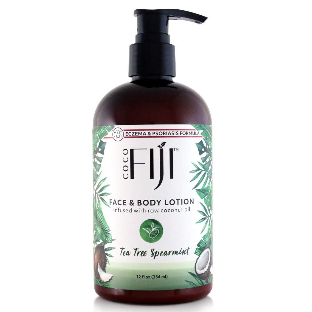 Coco Fiji, Coconut Oil Infused Face & Body Lotion, Tea Tree Spearmint 12oz