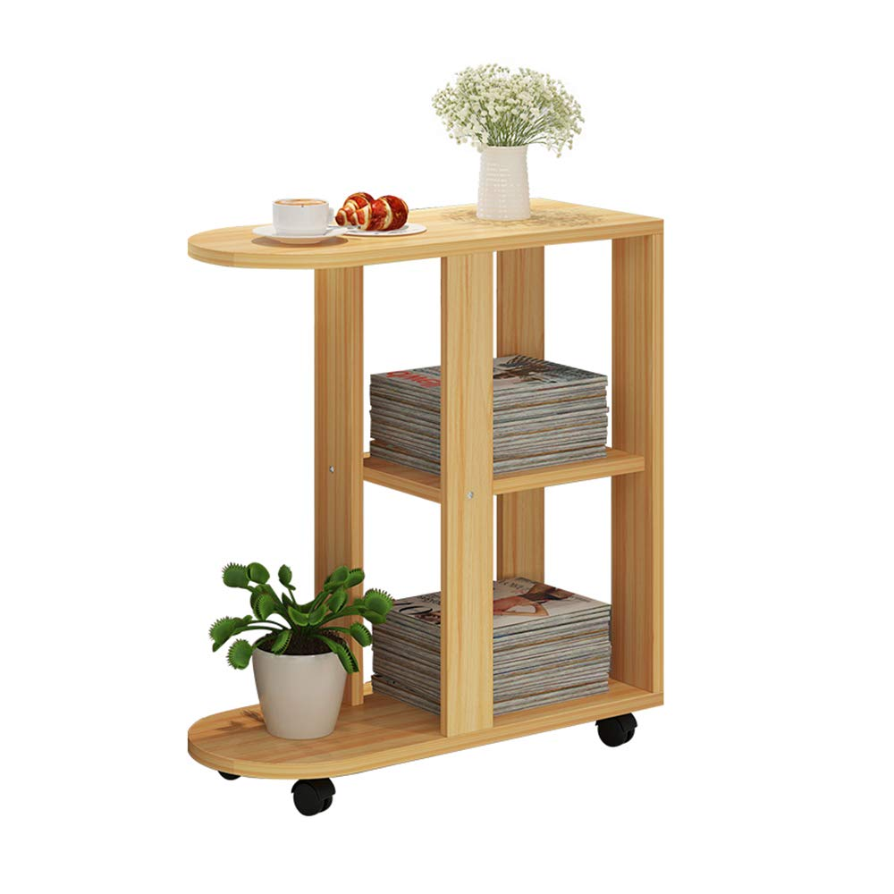 LJHA bianzhuo Bedside Table, Side Sofa Side Cabinet Living Room Small Coffee Table Bedroom Creative Bedside Table Removable Side Table 23.6 ×11.8 x26.4  Side Table