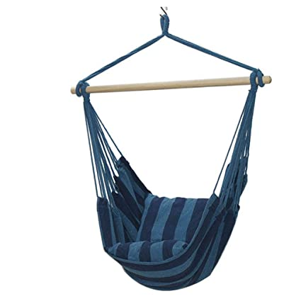 Remarkable Amazon Com Yyq Hammock Chair Canvas Outdoor Swing With Bralicious Painted Fabric Chair Ideas Braliciousco