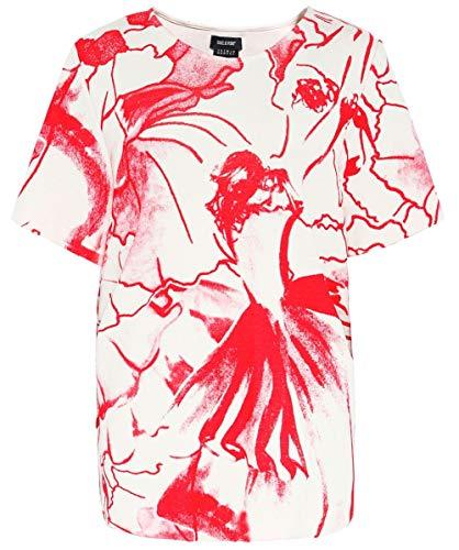 Stampato Isabel Rosso Retro Alto Sul Da Taglio A De Pedro Donna fUwrUpIq
