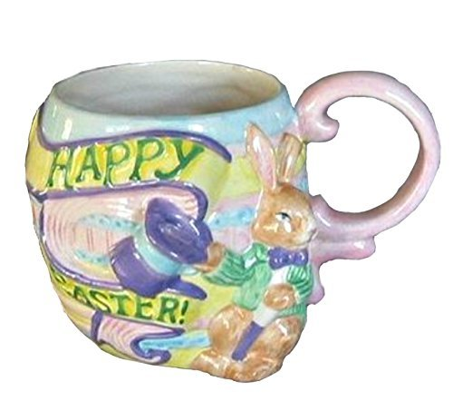 - Fitz and Floyd Omnibus Happy Easter Bunny Rabbit Ceramic Coffee Mug