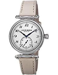 Akribos XXIV Womens AK704TN Impeccable Stainless Steel Watch with Leather Strap