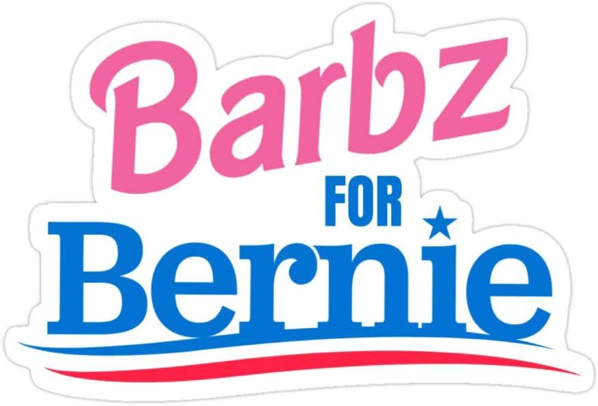 Markus Store (3 PCs/Pack) Barbz for Bernie 3x4 Inch Die-Cut Stickers Decals for Laptop Window Car Bumper Helmet Water Bottle