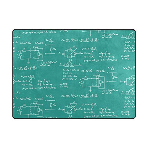 Fantasy Star Play Mat for Kids - Super Soft Modern Mathematics Equation and Calculations Chalkboard Area Rugs for Children Play Floor Rug and Carpets - Baby Mats for Playing/Crawling - 5' x 7'