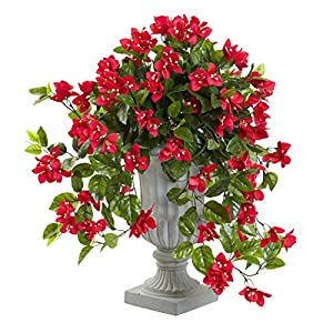 Artificial Flowers -Red Bougainvillea with Urn Artificial Plant 70