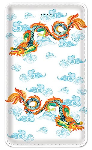 - Amped Art Slim 5000 Portable Charger, Ultra Slim 5000 mAh External Battery with Built in Micro USB Cable, Pocket Friendly Power Bank, Perfectly Designed for Smartphones - Chinese Dragon