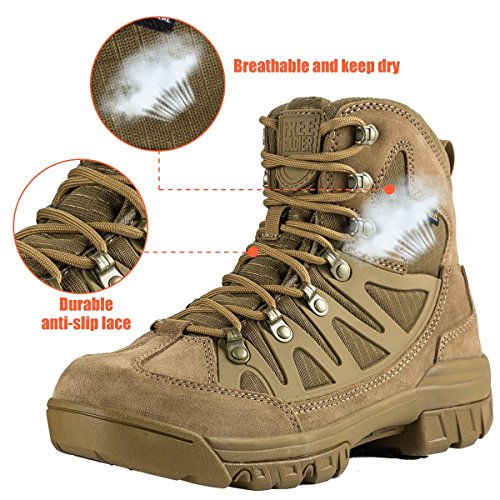 Scarponcini Da Escursionismo Medio Impermeabili Soldato Allaperto Da 6 Pollici In Pelle Traspirante Per Esterni Tattici E Scarpe Militari Coyote Marrone