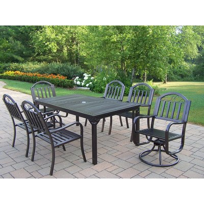 Oakland Living Rochester 7-Piece 67 by 40-Inch Dining Set...