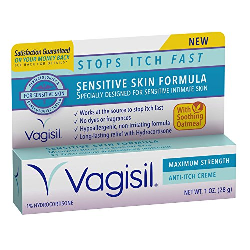 Vagisil Maximum Strength Anti-Itch Creme, Sensitive Skin Formula, 1 Ounce