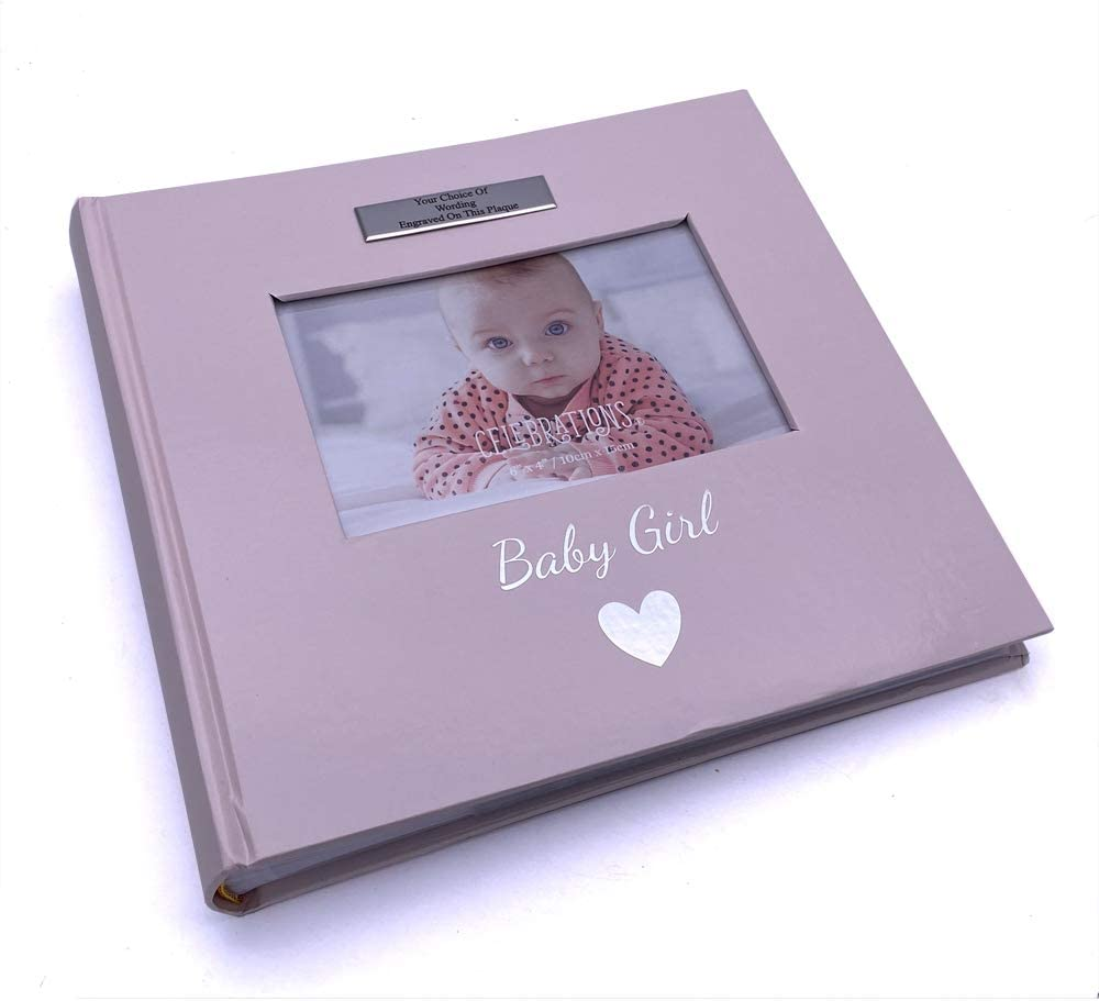 ukgiftstoreonline Personalised Baby Girl Photo Album 160 Pictures