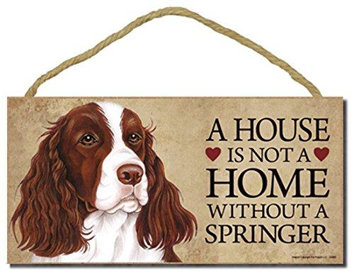 Springer Spaniel Dog Sign with Personalization Kit