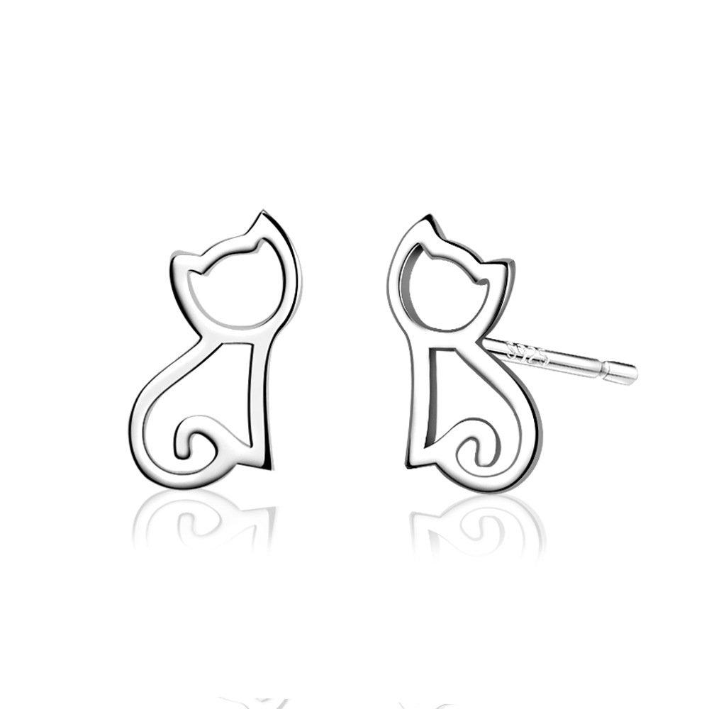 Boucles d'oreilles chatons par Belons - Argent 925 - Fille BLE0007