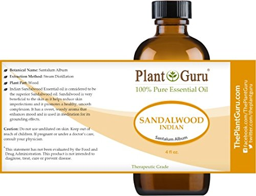 Sandalwood (East Indian Mysore) Essential Oil 4 oz. 100% Pure Undiluted Therapeutic Grade. by Plant Guru (Image #1)
