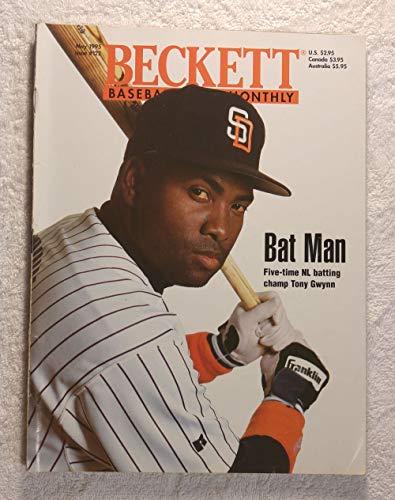 1995 Batting - Tony Gwynn - San Diego Padres - Bat Man - Five-time National League batting champ Tony Gwynn - Beckett Baseball Card Monthly Magazine - #122 - May 1995 - Back Cover: Ruben Rivera (New York Yankees)