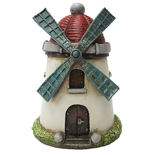 Tower Windmill (Pacific Giftware Enchanted Garden Decorative Windmill Tower Mini Fairy Garden Decorative Accessory 4.25 inch Tall)