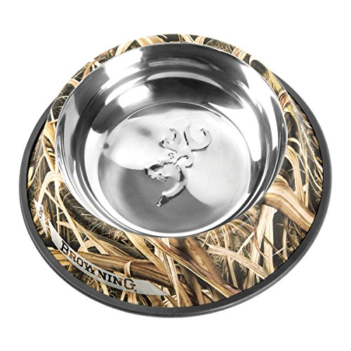 - Browning Stainless Steel Pet Dish, Large, Shadow Grass Blades