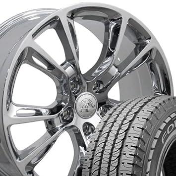 20 x 8,5 ruedas y neumáticos para Jeep, Dodge, Chrysler SUV - Grand Cherokee SRT8 estilo cromado Llantas - Set: Amazon.es: Coche y moto