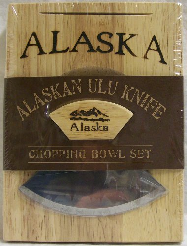 Ulu Knife with Small Chopping Bowl
