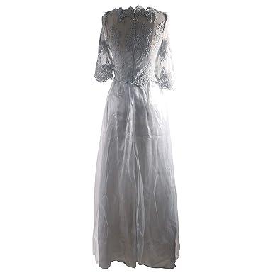 17c9bf67d95f4 Abito da Sposa Increspato da Donna Vestito da Sera Elegante da Sera Sottile  Vestito da Pizzo  Amazon.it  Abbigliamento