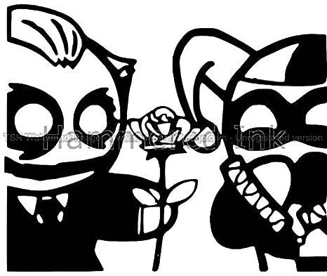 Cute Cartoon Joker Harley Quinn Die Cut Vinyl Car Truck Decal Window Sticker