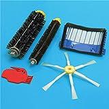 BephaMart 5pcs 6-Armed Brush Bristle Brush Beater Brush with Filter for iRobot Roomba 600 Series Vacuum Part