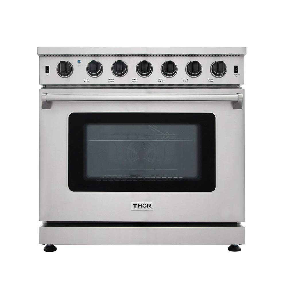 New Arrival 36 Inch Gas Range 6 Burners Cooktop 6.0 cu.ft Oven Thor Kitchen LRG3601U Thor Kitchen Products