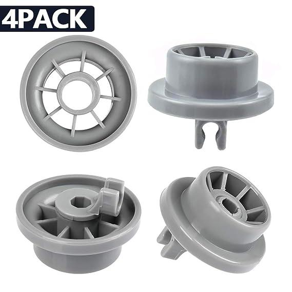 2Pcs Dishwasher Lower Basket Rail Wheels For Bosch Neff /& Siemens Grey 165314