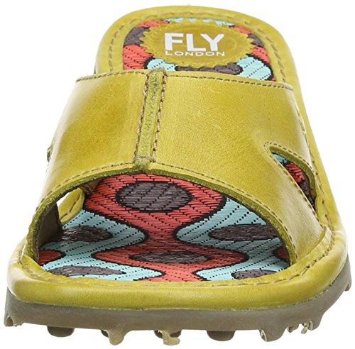 FLYA4|#Fly London Fly London P500740002, Zuecos Mujer Amarillo (Mustard 004)