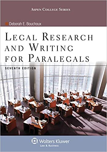 Legal Research and Writing for Paralegals Seventh Edition
