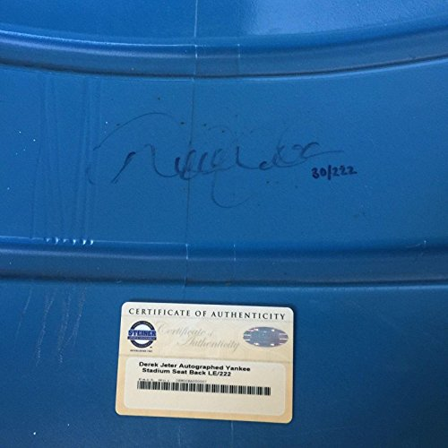 Derek Jeter Signed Game Used Original Yankee Stadium Seat Back MLB COA - Steiner Sports Certified - Game Used MLB Stadium Equipment ()