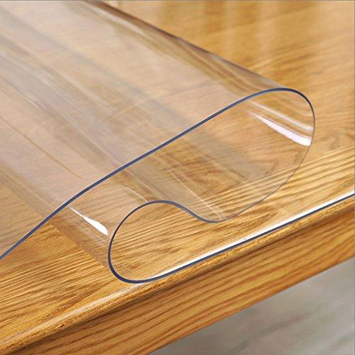 HY Mantel transparente de mesa de cristal Mantel de cristal suave Mantel de mesa de plástico Mantel rectangular resistente...