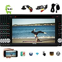 EinCar Quad-core Car Stereo with 6.2 inch Capacitive Touchscreen Head Unit Android 6.0 Car DVD Player GPS Navigation Autoradio Bluetooth Car Stereo support Wifi Steering Wheel Control+Free Dual Camera