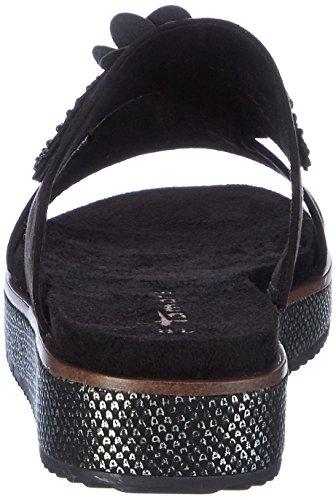 Femme 001 Tamaris Noir Bout Sandales Black Ouvert 27121 pnnZgw7q