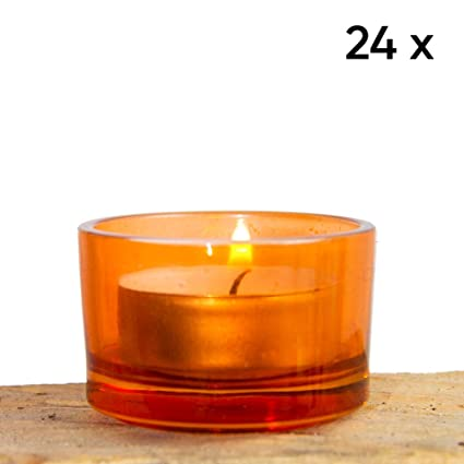 6229385938 Amazon.com: Chive - Orange Glass Tealight Candle Holder, 24 Bulk Pack Set  for Weddings, Parties, Events and Home Decor Tea Light: Home & Kitchen