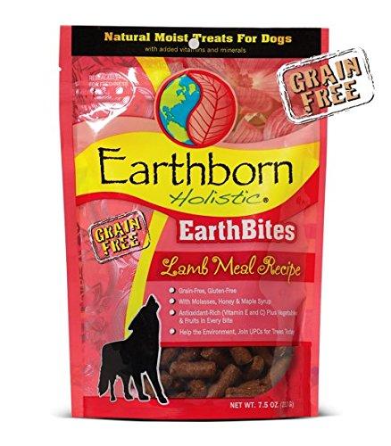 Image of Earthborn Holistic EarthBites Grain-Free Natural Moist Dog Treats Variety Bundle (7.2 oz.) - (1) EarthBites Lamb Meal Recipe, (1) EarthBites Hip & Joint, and (1) EarthBites Skin & Coat (3 Bags Total)